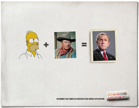 ¿Parecido entre Homer Simpson y George Bush?