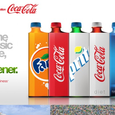 Concepto de packaging para Coca Cola