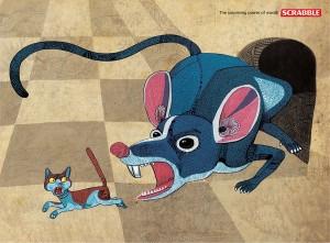 scrabble mouse