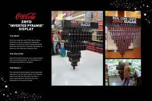 coke zero inverted pyramid