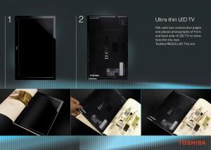 Toshiba LED TV Ultra thin