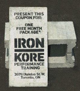 Iron Kore Performance Training Concrete Block Coupon