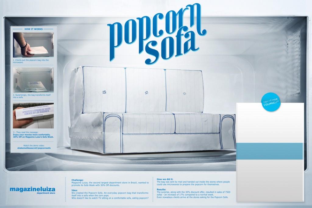 Magazine Luiza Retail Store Sofa Week Popcorn Sofa