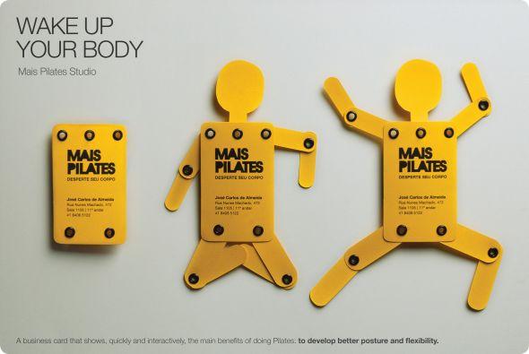 Mais Pilates Studio Wake Up Your Body Business Card
