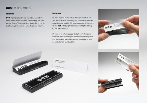 Rolling business cards