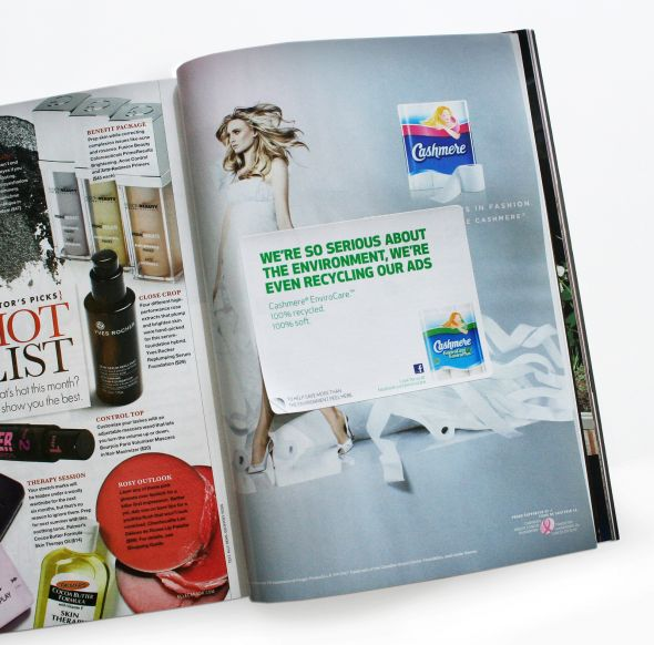 cashmere envirocare recycled ad