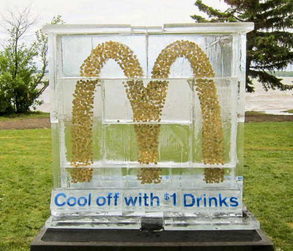 mcdonalds ice sculpture stunt