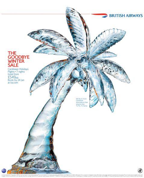 british airways january sale palm tree