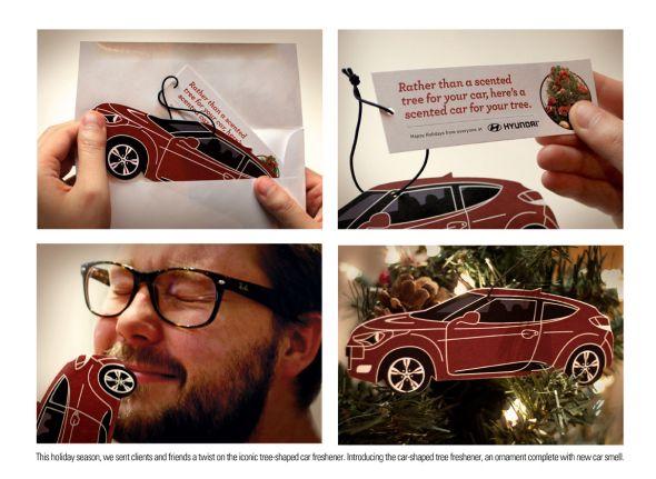 hyundai scented holiday card