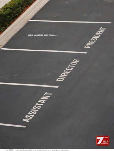 kia motors parking space