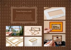 frame manufacturer business card