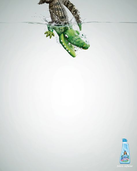lenor fabric softener crocodile