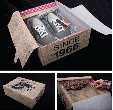 packaging zapatos retro