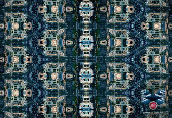 Publicidad abstracta de Fiat Punto