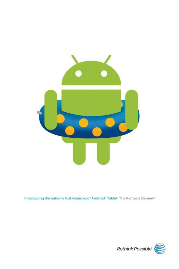 Android publicidad minimalista