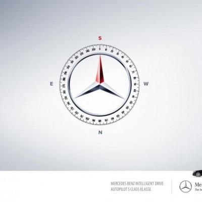 Mercedes y la publicidad para su piloto automático